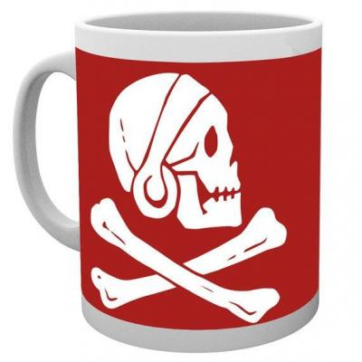 Uncharted 4 mug 300 ml red skull