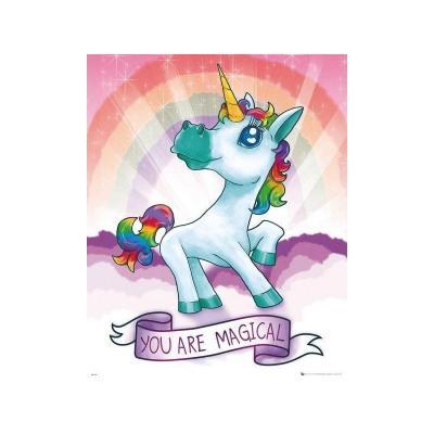 Unicorn mini poster 40x50 magical