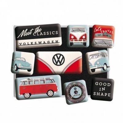 Vw meet the classics set de 9 magnets