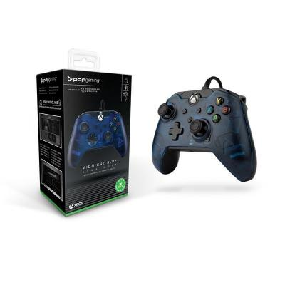 Wired controller official xbox series x blue