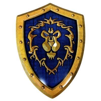 World of warcraft bouclier alliance plaque metal 25x35cm