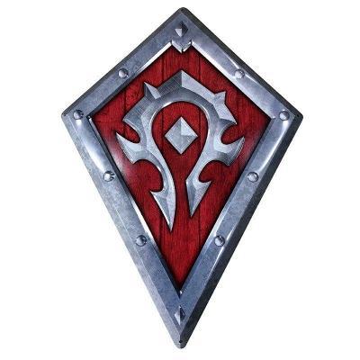World of warcraft bouclier horde plaque metal 25x35cm