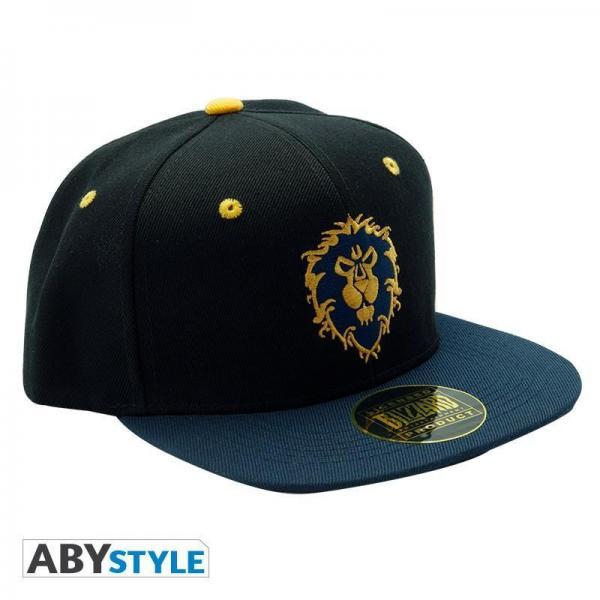 Wow casquette snapback bleu alliance