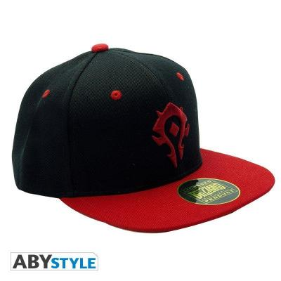 Wow casquette snapback noir rouge horde