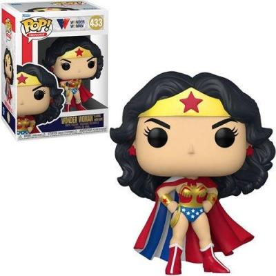 Ww80th bobble head pop n 433 wonder woman classic w cape