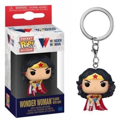 Ww80th pocket pop keychains wonder woman classic w cape