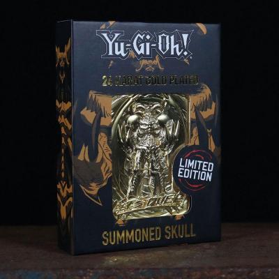 Yu gi oh summoned skull carte en metal plaque or collector