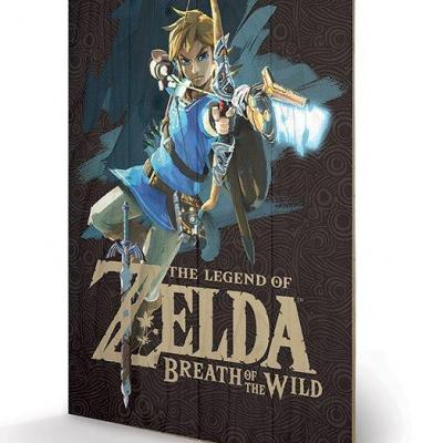 Zelda breath of the wild game cover impression sur bois 40x59cm