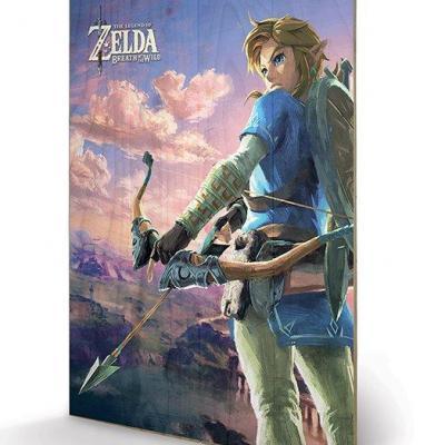 Zelda breath of the wild hyrule scene impression sur bois 40x59cm