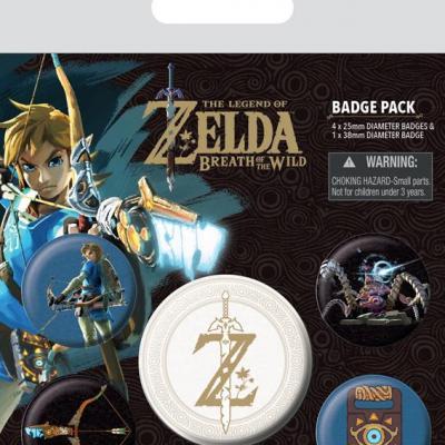 Zelda breath of the wild pack 6 badges z emblem