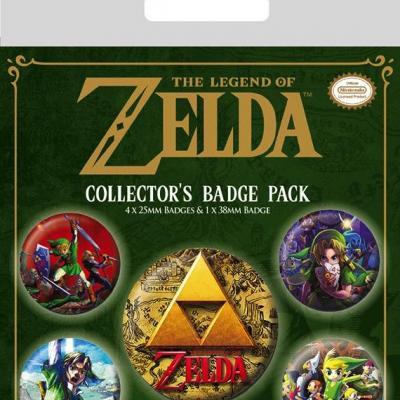 Zelda pack 5 badges the legend of zelda classic