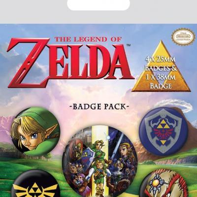 Zelda pack 5 badges the legend of zelda