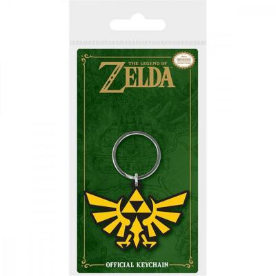 Zelda porte cles caoutchouc triforce