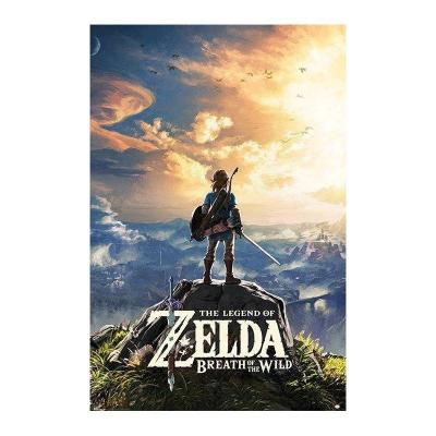 Zelda poster 61x91 breath of the wild sunset
