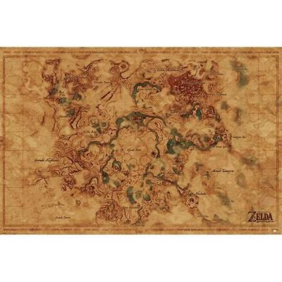 Zelda poster 61x91 hyrule world map